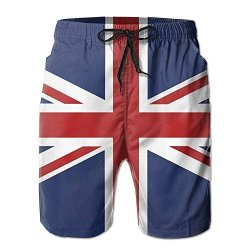 46067305a8 Men's Zq-south Union Jack Flag Quick Dry Summer Beach Surfing Board Shorts  Swim Trunks Cargo Shorts
